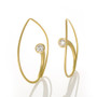 Inverted Vortex Earrings; Handmade Modern Jewelry by Ayesha Mayadas