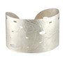 Open Wafer Cuff in White; Sterling Silver, Modern Jewelry by Ayesha Mayadas