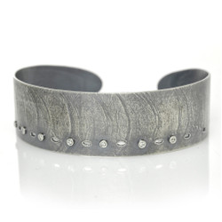 Narrow Wafer Cuff, Handmade Modern Jewelry by Ayesha Mayadas