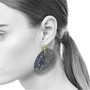 Firefly Removable Earrings on Model; Handmade Contemporary Jewelry by Ayesha Mayadas
