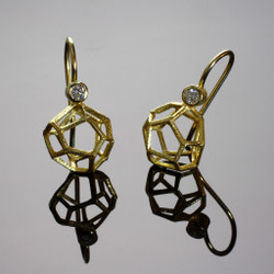 Rock Shaped Dangle Earrings, Contemporary Jewelry by Liaung-Chung Yen