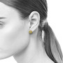 Rock Shaped Diamond Studs on Model, Contemporary Jewelry by Liaung-Chung Yen