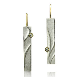 Echo Dangle Earrings, Modern Art Jewelry by Keiko Mita