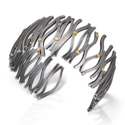 Transverse Wave Bracelet, Modern Art Jewelry by Lori Gattlieb