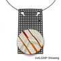 ?Cut UP? Brooch on Rectangle Mesh Suspendos, Contemporary Jewelry by David LaPlantz