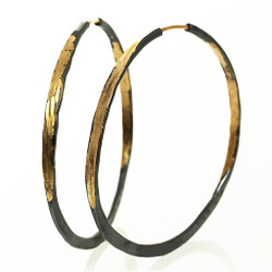 Splash hoops with Barrel Closure, Handmade Modern Jewelry by Ayesha MaBadas
