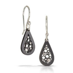 Petite Teardrop Dangle Earrings, Handmade Contemporary Jewelry by Belle Brooke Barer
