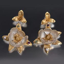 Carol Salisbury's One-of-a-Kind Magnolia Earrings | Handmade Designer Jewelry