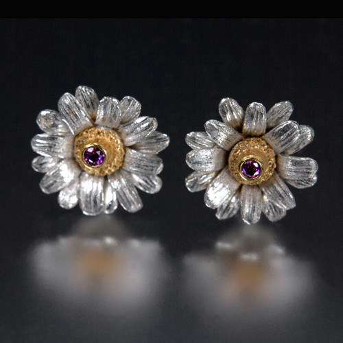 Carol Salisbury's One-of-a-Kind Gerber Daisy Earrings | Handmade Designer Jewelry