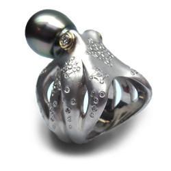 Unique Jewelry, Octopus Ring by Americo Izzo