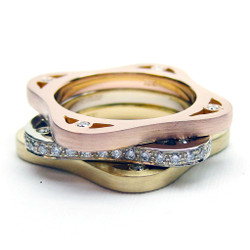 Modern Jewelry, Toast Ring on Model by Americo Izzo