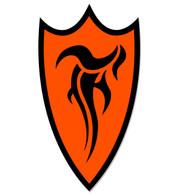 F-Shield Sticker (Black/Orange)