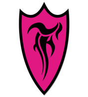 F-Shield Sticker (Black/Pink)