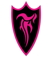 F-Shield Sticker (Pink/Black)