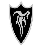 F-Shield Sticker (Silver/Black)