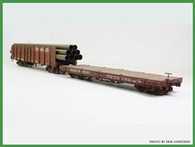 On30 D&RGW Pipe Gondola with Idler Flat Kit