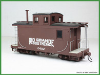 On3 D&RGW/RGS Short Caboose Kit