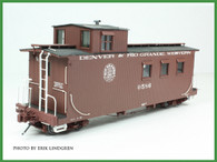 On3 D&RGW Peak Roof Long Caboose Kit Single Window Cupola