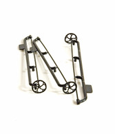 """D&RGW 16"""" Brake Wheel and Shaft (3 pieces)"""