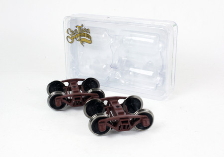 O Scale Bettendorf Trucks, Brown