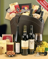 Leather Gourmet Wine Tote