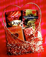 Gold Hearts Valentine's Day Gift Basket