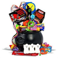 Kids Cauldron Halloween Gift Basket