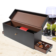 Leather Wine Box & Chocolates