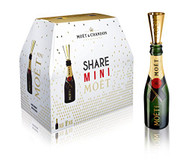Moet & Chandon Imperial Share Pack (6 x 187ml Mini Bottles with Sippers)