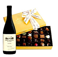 Thank You Godiva Chocolates w/Wine