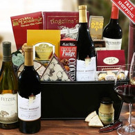 Wine Lover's Deluxe Gift Basket