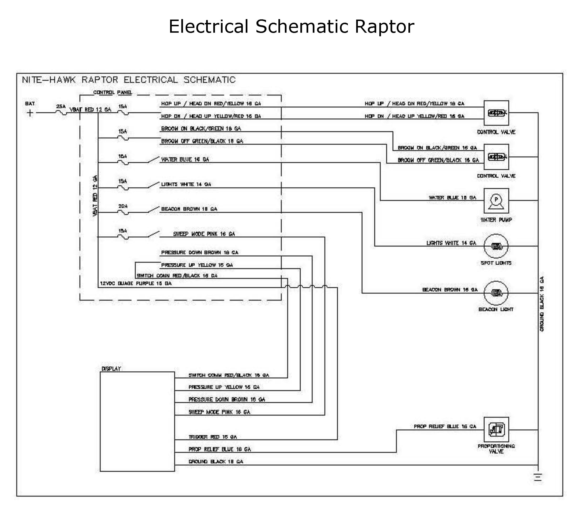 raptor electrical schematic rh buysweeperparts com Osprey Bird Typhoon Storm Diagram