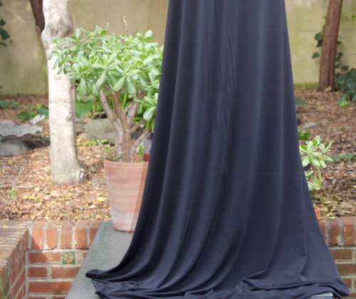 "Black Ity  Poly Spandex Knit 60"" wide"