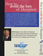 How To Avoid The Lure of Deception - 3 CD Audio Disc Set Back Cover
