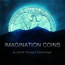 Imagination Coins US Quarter (DVD and Gimmicks) by Garrett Thomas and Kozmomagic - DVD
