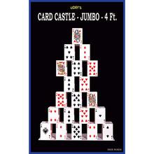 Card castle 4 Feet (JUMBO) by Uday