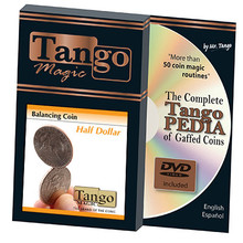 Balancing Coin (Half Dollar w/DVD) by Tango Magic