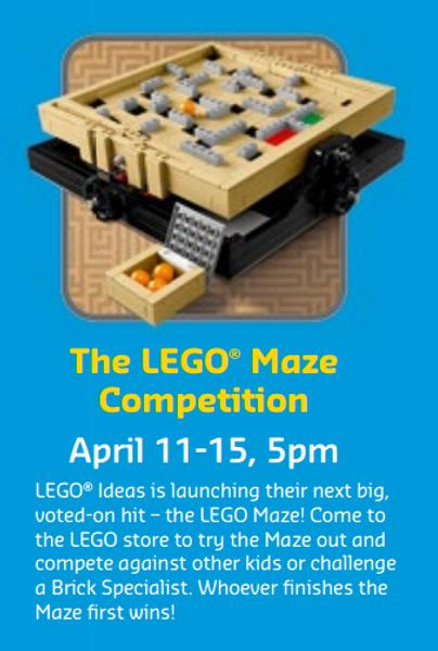Upcoming set - the LEGO Ideas 21305 Maze!