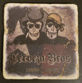Cerveza Bros Texas Tumbled Stone Coaster