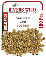 100 Pack- Gold Brass