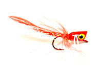Panfish Popper - Red body/White legs