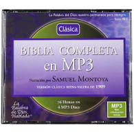 Front view - Reina Valera 1909 Audio Bible for MP3 & Android read by Samuel Montoya