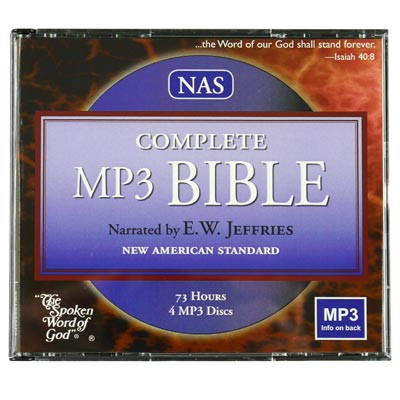 Front view - NASB Audio Bible for iPod and MP3 players read by Red Jefferies