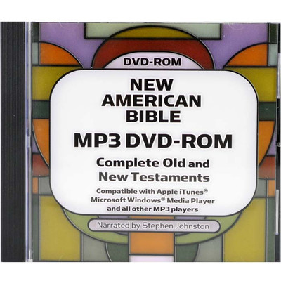 Front view - Catholic New American Bible, Audio Bible for MP3 and iPod Players