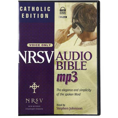 Front view - NRSV Audio Bible, Catholic Edition, Audiobook for MP3 & iPod