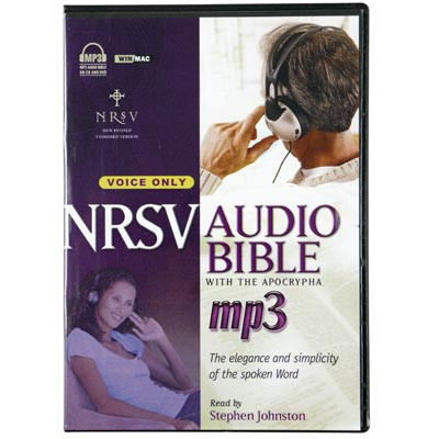 Front view - NRSV Audio Bible for MP3, Android, iPad & iPhone with Apocrypha