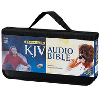 Front view - Dramatized King James Bible on 60 Audio Discs by Stephen Johnston.