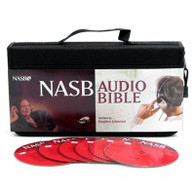 Front view with CDs - New American Standard Audio Bible on audio CD by Stephen Johnston
