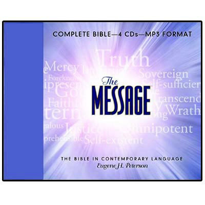 Front view - The Message Audio Bible Reading for MP3 & Android