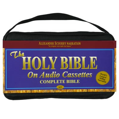 Front view, both Old and New Testament - King James Bible on 48 Cassette Tapes Voice Only by Alexander Scourby